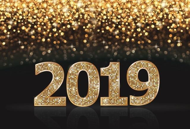 Laeacco Glitters Light Bokeh Diamond 2019 New Year