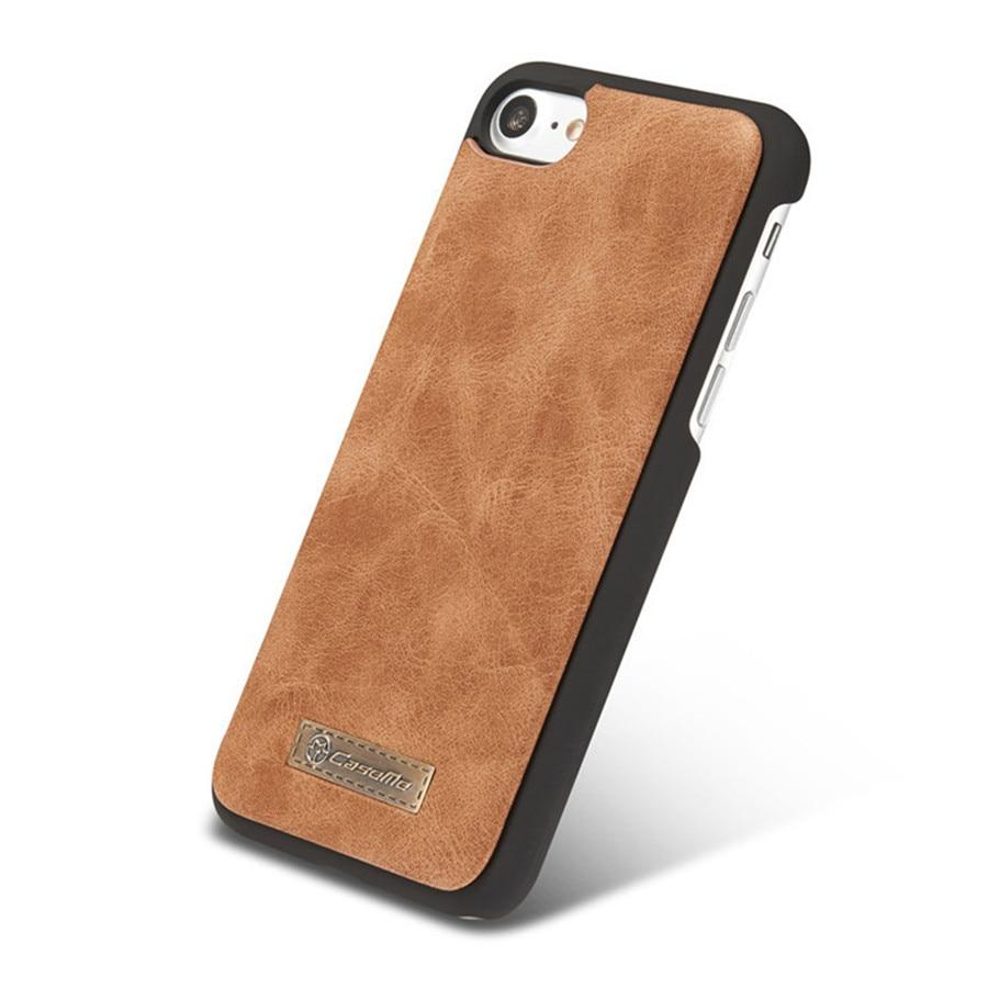 Untuk iPhone 6 Kasus Kulit Sapi Kulit 2in1 Balik Dompet Telepon Bag - Aksesori dan suku cadang ponsel - Foto 4