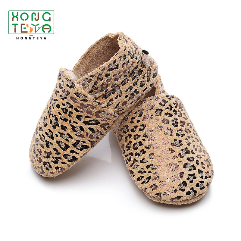 Baby Shoes Leopard Newborn Genuine Leather Baby Moccasin Shoes Toddler Shoes First Walkers Soft Sole Fashion Baby Shoes Boy