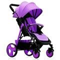 Bebê carrinho de bebê luz quatro carrinho de criança de carro do bebê portátil dobrável quatro estações geral