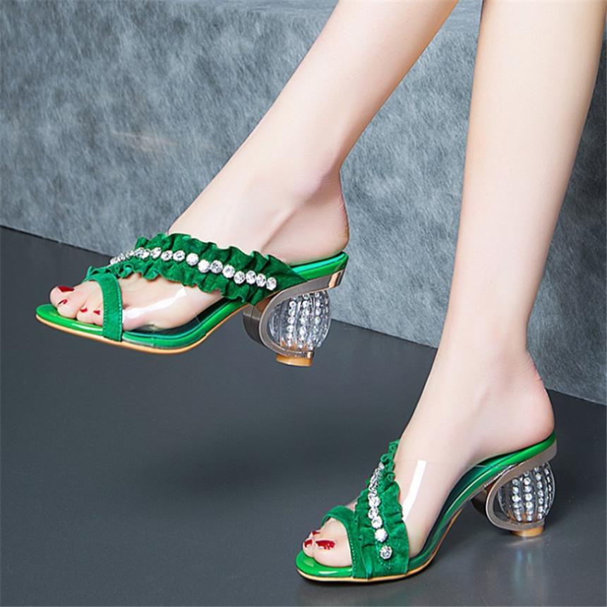 ZOUDKY 2018 summer Temperament Rhinestone Anti skin of sheep Leather woman shoes 1pcs cp15td1 24a cp15td1
