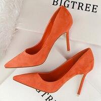 Women Pumps Pointed Toe High Heel Female 2018 Fashion OL Heels Shoes Women Red Black Pumps