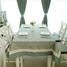 Столовые скатерти качественные хлопковые зеленые шипы домашний