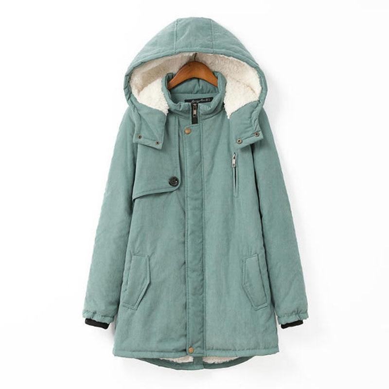 ФОТО Plus Size 4XL Wadded Cotton Coats Hooded Harajuku Style Winter Jacket Women Thick Padded Jacket Female,Manteau Femme Paka C2660