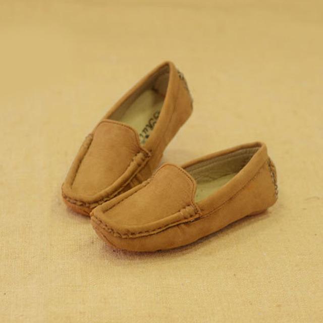 2017 niños del otoño casual shoes resbalón de los niños niños niñas de cuero mocasines enredaderas niños holgazanes chaussure enfant garcon