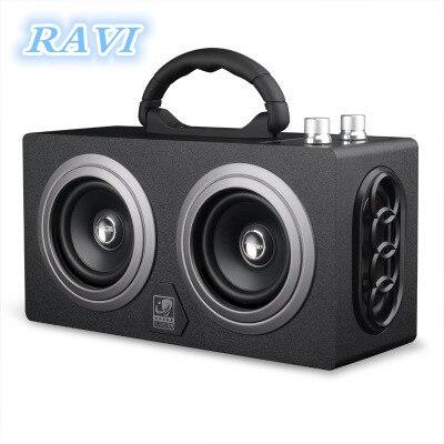 Bluetooth Haut-Parleur FM Sans Fil Portable Musique Haut-Parleur Haute puissance Portable Portable De Voiture En Plein Air Radio Subwoofer