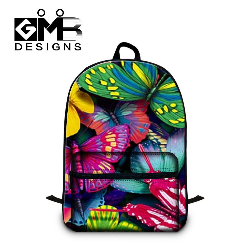Cute Butterfly 3D backpacks for girls college students stylish school bags for laptop computer,womens day pack,lightweight back cute animal print computer backpacks dog laptop back pack for 14 inch boys cat school bookbag college girls mochila book bag