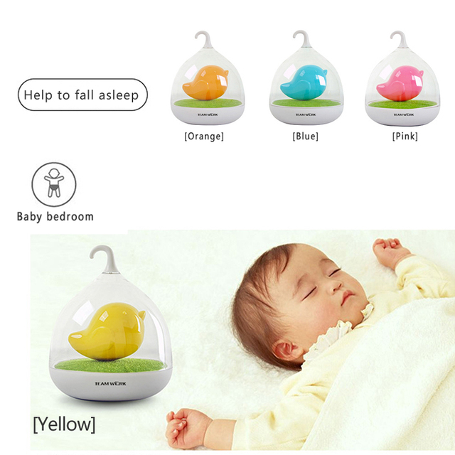 ECO-Friendly LED Night light sleep Lamp Touch Sensor Bird Light Children's Toys Birthday Gifts
