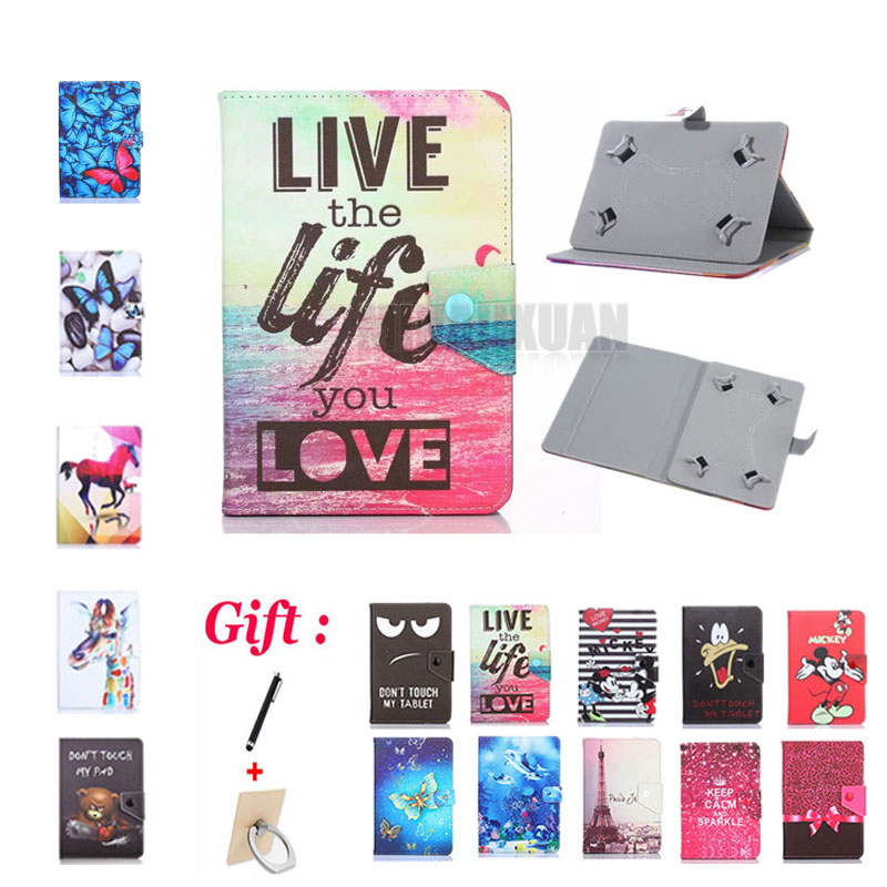 (No <font><b>camera</b></font> hole) Universal Cover for Prestigio <font><b>Wize</b></font> 3418 4G PMT3418 8 inch Tablet Magnetic PU Leather Stand Case + 2 Gifts image