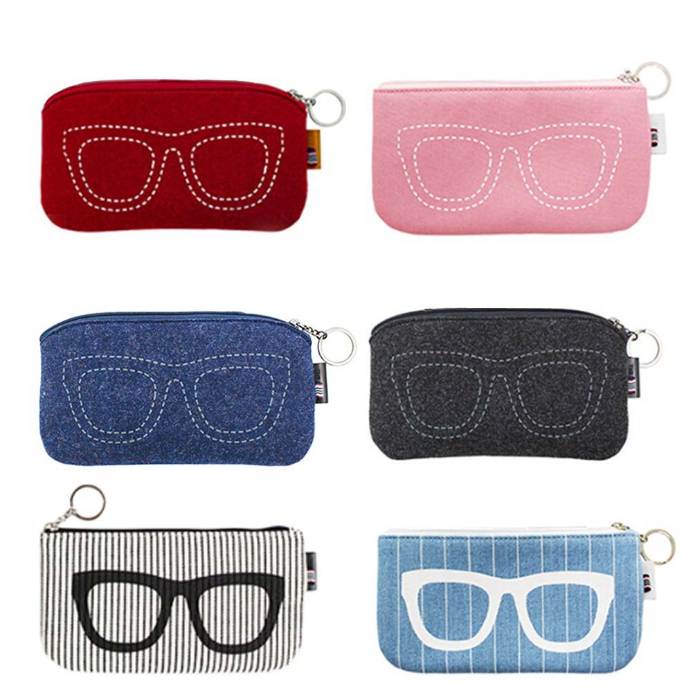 2017 Colorful Sunglasses Case For Women Men Glasses Box Felt Sunglasses Bag Eyeglasses cases For Men Eyewear Accessories