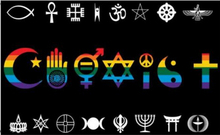 Coexist Rainbow World Peace Love Human Rights Religious Gay Pride Flag 3ft x 5ft Polyester Banner Flying 150* 90cm Custom flag