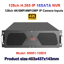 128ch Network Video Recorder Support 4K/5MP/3MP/1080P/720P/D1 support 16HDD with 2E-sata Ports surveillance NVR HDMI VGA output