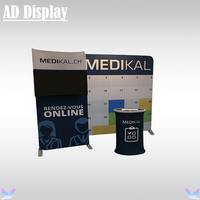 10ft 10ft Trade Show Booth Size Tension Fabric Banner Advertising Display Wall With TV Stand And