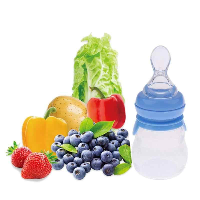 เด็กบีบช้อนซิลิโคนการฝึกอบรมตักข้าววางธัญพืชอาหารปลอดภัยชุดอาหารเครื่องดื่มนมขวด