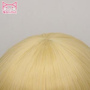 Image 3 - 【AniHut】Mari Ohara Wig Love Live Sunshine Cosplay Wig Yellow Synthetic Hair Anime LoveLive Sunshine Cosplay Hair Mari Ohara