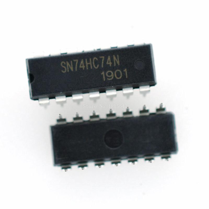 10PCS/LOT SN74HC74N DIP14 SN74HC74 DIP 74HC74N 74HC74 DIP-14 New