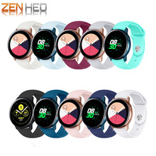 20mm Sports Silicone Band For Samsung Galaxy Active Watch 42MM Smart Replacement Strap 42mm WatchBands