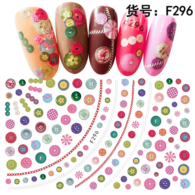 5pcs Valentine\'s Day ADhesive nail decals Nails Art decorations ...