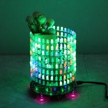 Colorful RGB Dream Light Circle 5mm LED DIY Kit Music Spectrum Module 8x32 Dot Matrix for Gift