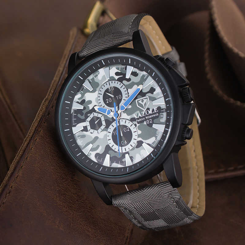 Reloj hombre 2018 YAZOLE мужские часы Топ бренд Роскошные спортивные часы Мода Военная, Армейская, камуфляжная часы мужские s часы кварцевые