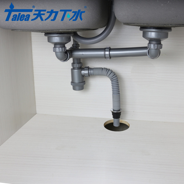 Hot Price 60c7c Talea 1 5inch Double Sink Drain Pipes To Ground Kit Flexible Plumbing Hose Kitchen Sink Drain Downcomer Bathroom Deodorization Cicig Co