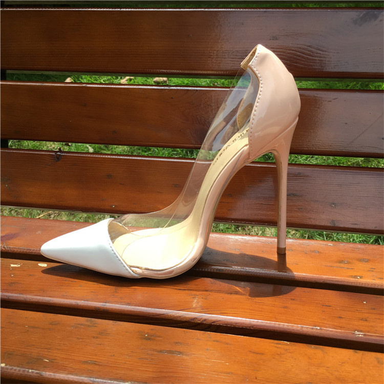 92cfd7d8bc Craylorvans Women Pumps 2017 Transparent 12.5cm High Heels Sexy Pointed Toe  Slip-on Clear ...