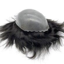 Haarstukje man front shell skin base mannen haar toupet siliconen pruik