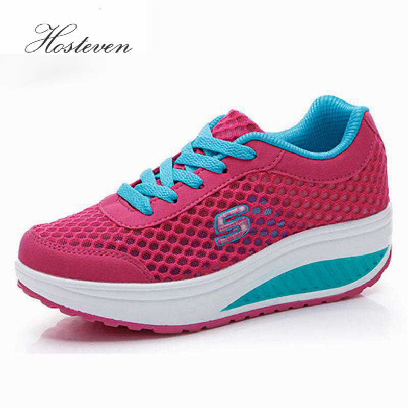 2017 Casual Women's Shoes Platform Flats Lady Beauty Sewing Fitness Shoe New Trendy Health Wedges Shoe Size 35-40