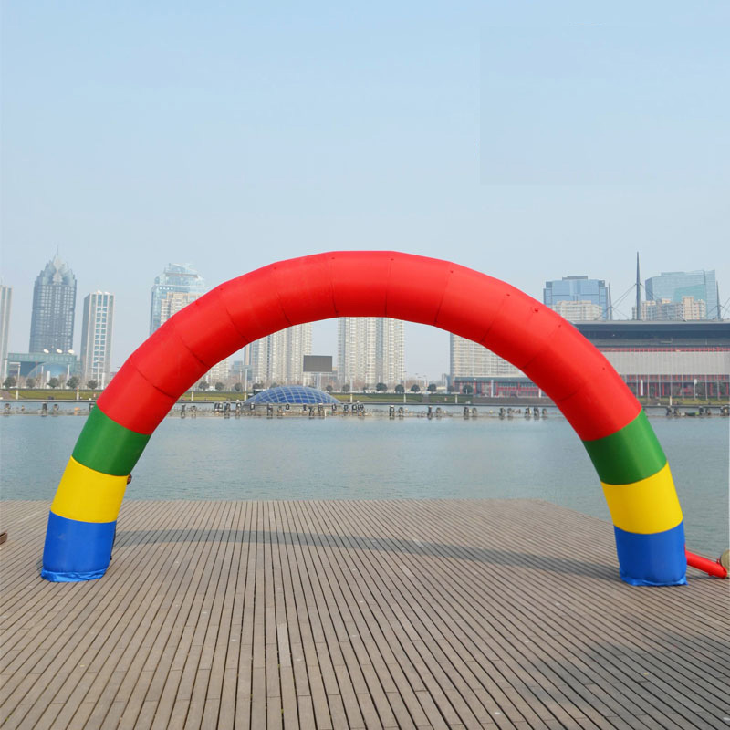 Custom LOGO ad Discount 20ft*10ft D=6M/20ft inflatable Rainbow arch Advertising Fast Free shipping free shipping 6m 20ft 4 legs inflatable arch inflatable start finish line racing arch with blower