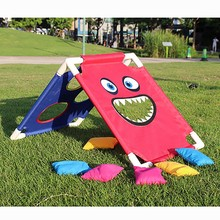 1 Set Cornhole Boards with 6 Bean Bags Outdoors Children Entertainments Playground Sandbags Sports for Kids