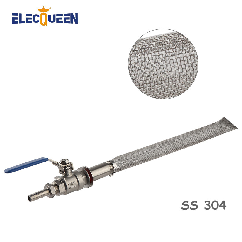 30cm Kettle Bazooka Filter Ball Valve Kits Food Grade Stainless Steel Brewing Screen Mesh Filters 1