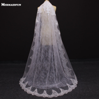 2018 Real Photos Luxury Beautiful Lace White Ivory Wedding Veil With Comb New Arrival Bridal Veil