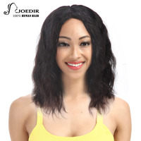 Joedir Remy Lace Front Human Hair Wigs For Black Women 10 And 12 Inch Brazilian Natural Wave Hair Wig Free Shipping
