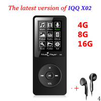 Ultrathin Original IQQ X02 16GB MP3 Player With 1 8 Inch Screen Play 80 Hours FM