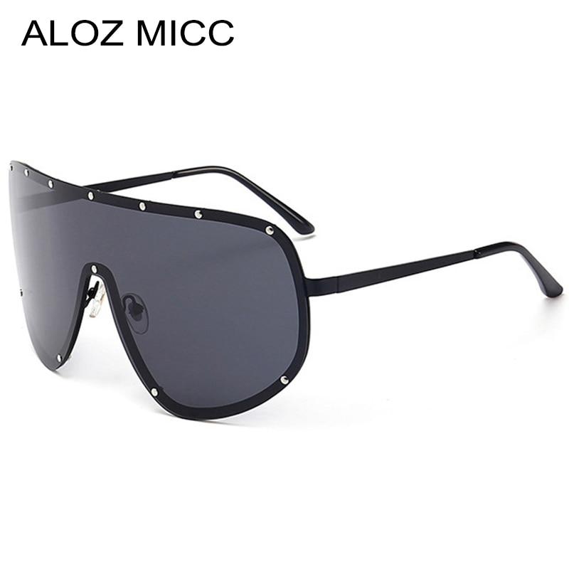 6b5674ebf9 ALOZ MICC Super gran marco polarizado gafas de sol hombres ClassicTrend  estrellas llevan gafas mujeres marco grande al aire libre Sunglass Q57 ...