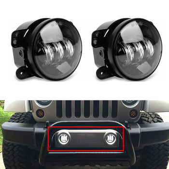 BBQ@FUKA 2PCS/Pair 4 inch 30W High Power LED Fog Light Headlamp Lighting For Jeep Wrangler JK 07-14