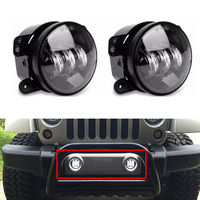 BBQ FUKA 2PCS Pair 4 Inch 30W High Power LED Fog Light Headlamp Lighting For Jeep
