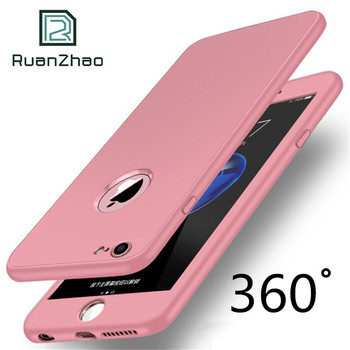 For iPhone 6 7 8 plus 360 Degree Soft TPU Silicon Case For iPhone 8 7 Plus Cover X Silicone Full Cover For iPhone 6s Plus Case X iphone 6