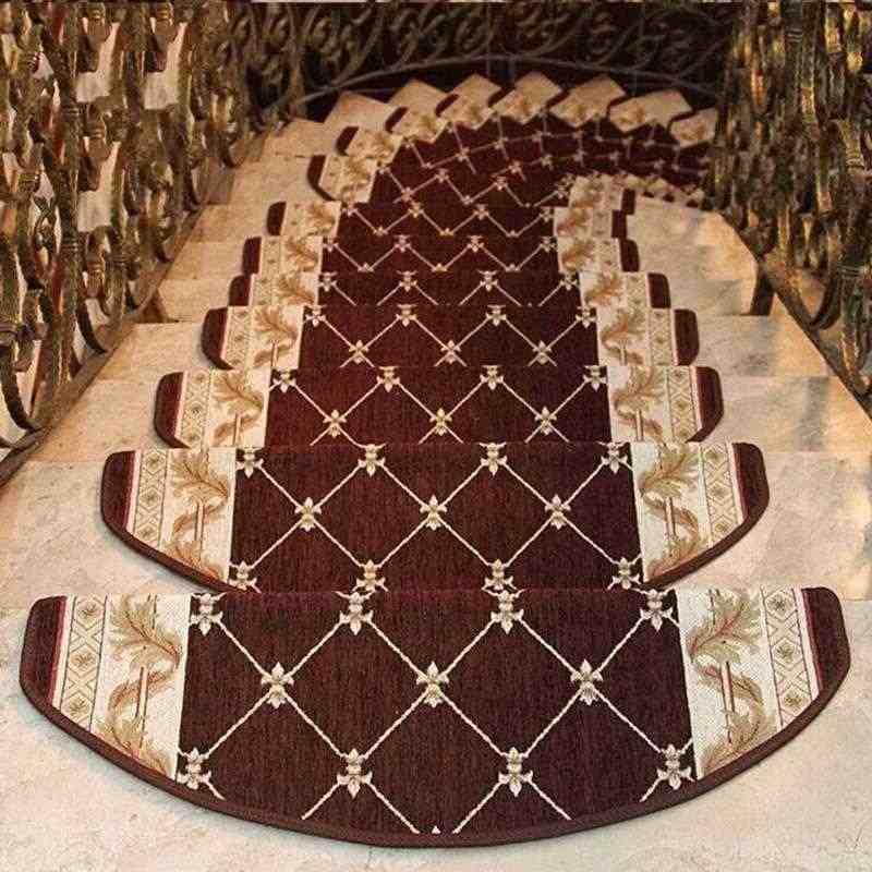 13 Pieces Carpet Stair Treads Anti Slip Stair Carpet Step Floor | Rug Stair Treads Non Slip | Bullnose Carpet | Gloria Rug | Slip Resistant | Tread Covers | Flooring