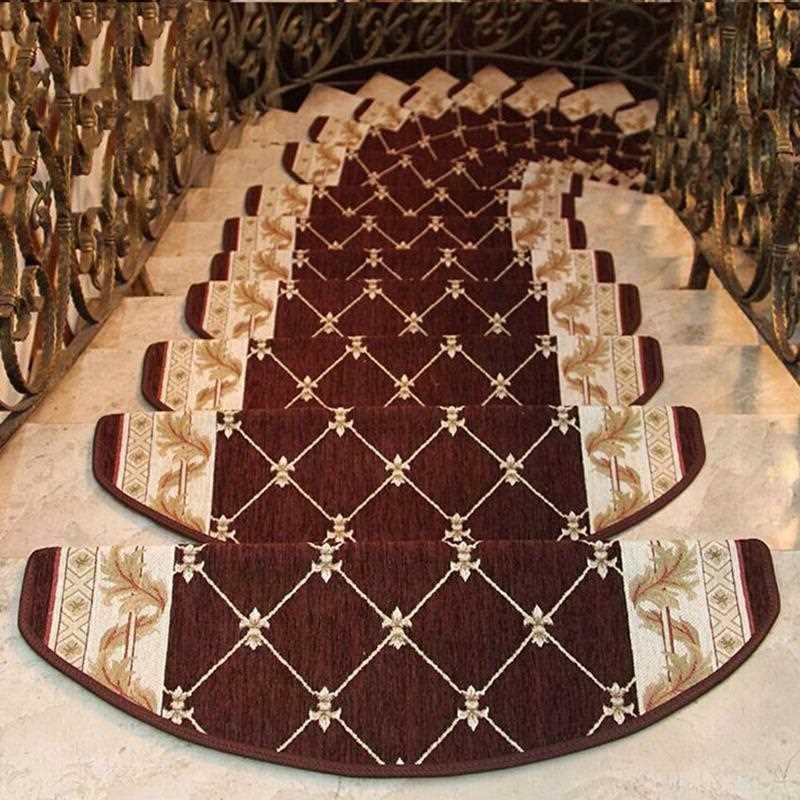 13-Pieces Carpet Stair Treads Anti-Slip Stair Carpet Step Floor Staircase Rug High Quality Mat Self-adhesive Bottom Rugs Custom