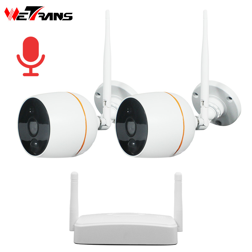 Wetrans CCTV Camera System Wireless HD 1080P Home Security Wifi IP Camera NVR Kit Surveillance Audio Waterproof Night Vision