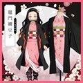 Костюм для косплея японского аниме «Blade Demon deposition Kamado Nezuko»  кимоно  униформа для сестры  бесплатная доставка