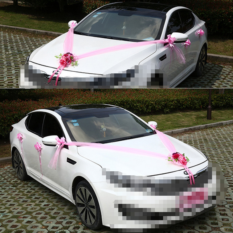 Wedding car decoration artificial flowers fake decoration marriage wedding car decoration artificial flowers fake decoration marriage wreath sets pompoms decoration marriage supplies accessories in artificial dried junglespirit Gallery