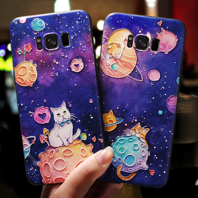 3D Emboss Cartoon For Samsung Galaxy Plus Note 8 9 Case TPU Cover 2