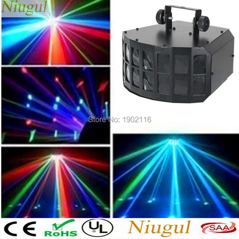 Disco Light Nightclub Decoration 4in1 LED 30W Mini LED Double Butterfly Effect Light ,DMX512 Stage Lighting KTV DJ Party Lights niugul rgbw led double butterfly 4in1 led stage effect lights party disco dmx512 led stage lamp dj equipment ktv party lights
