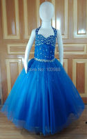 royal blue flower girl DRESS OCCASION PARTY BRIDESMAID WEDDING FORMAL WEAR!! Birthday gift Real photo muchacha vestido