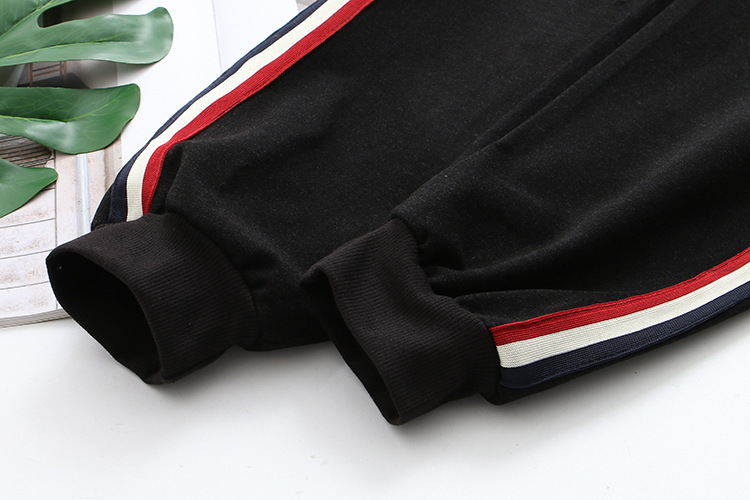 Striped Woolen Pants Women Plus Size XXXL Casual Elastic Waist Loose Stretched Ankle length Harem Pants Black SWM1286 in Pants amp Capris from Women 39 s Clothing