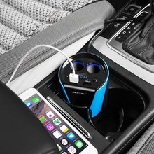 BESTEK 2-гнездо Прикуривателя Адаптер Питания ПОСТОЯННОГО ТОКА На Выходе Сплиттер 3.1A Dual USB Кубок Автомобилей Зарядное Устройство Для iphone/samsung/ipad Адаптер