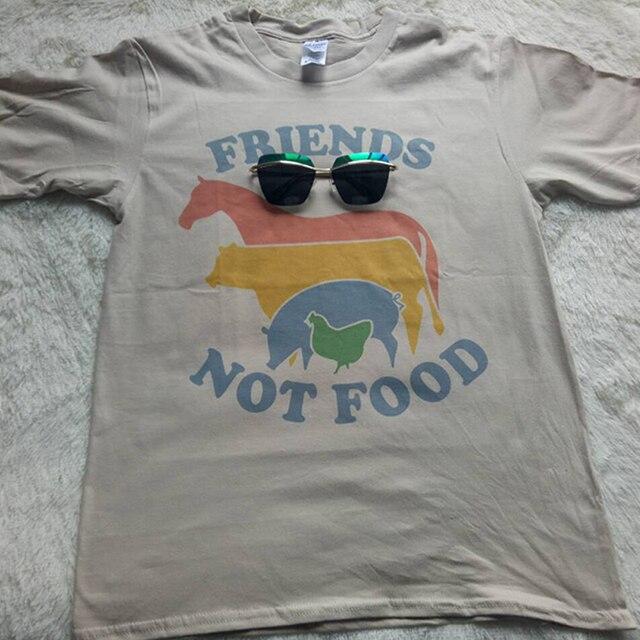 geekoplanet.com - Friends Not Food Vintage Vegan T-shirt