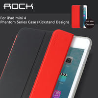 For Apple Ipad Mini 4 Holder Leather Case ROCK Phantom Kickstand Leather Cover Protective Case For